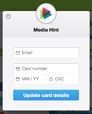 How do I update my credit card information? - Media Hint Support
